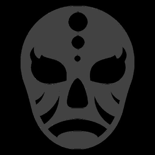 Máscara luchador círculo detalhada silhueta Transparent PNG