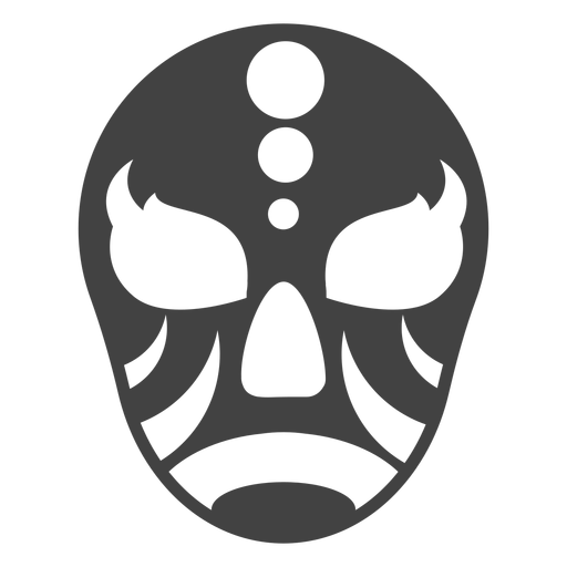 Mask luchador circle detailed silhouette
