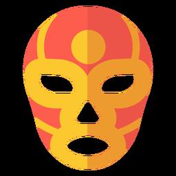 Máscara luchador círculo plana