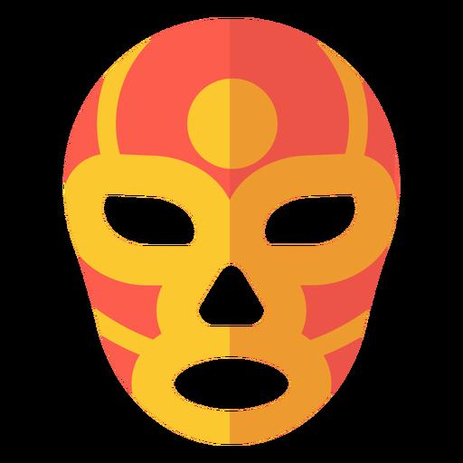 Máscara luchador círculo plana Transparent PNG