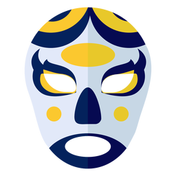 Mask luchador circle oval flat