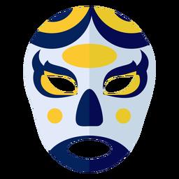 Maske Luchador Kreis oval flach