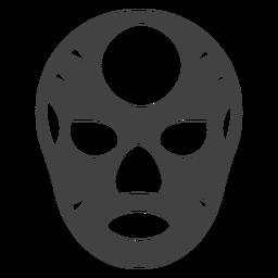Máscara luchador círculo silhueta detalhado
