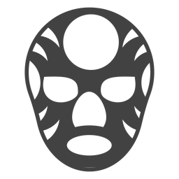 Mask luchador circle silhouette detailed