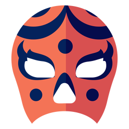 Máscara luchador círculo listra plana