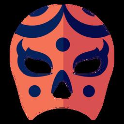 Mask luchador circle stripe flat