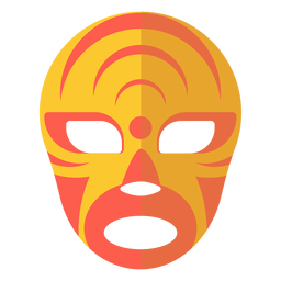 Maske Luchador Halbmond Kreis flach