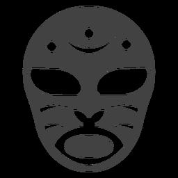 Maske Luchador Halbmond detaillierte Silhouette