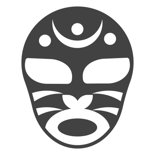 Mask luchador crescent detailed silhouette