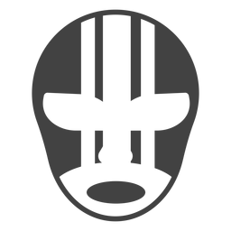 Mask luchador stripe detailed silhouette