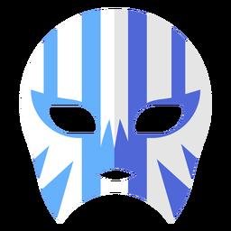 Máscara luchador listra plana