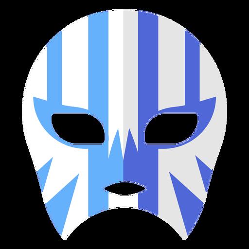 Máscara luchador raya plana Transparent PNG