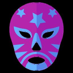 Máscara luchador listra estrela plana