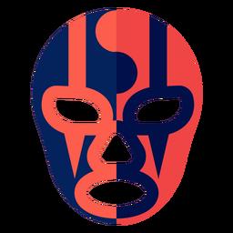 Máscara de luchador raya yin y yang plana