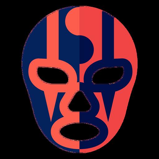 Máscara luchador listra yin e yang plana Transparent PNG