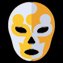 Máscara luchador yin e yang plana