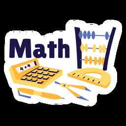Etiqueta engomada de la insignia de la calculadora de matemáticas