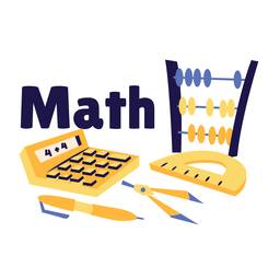 Math calculator badge sticker