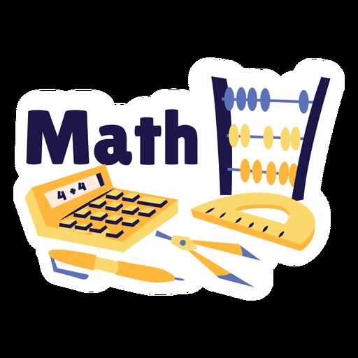 Math calculator badge sticker
