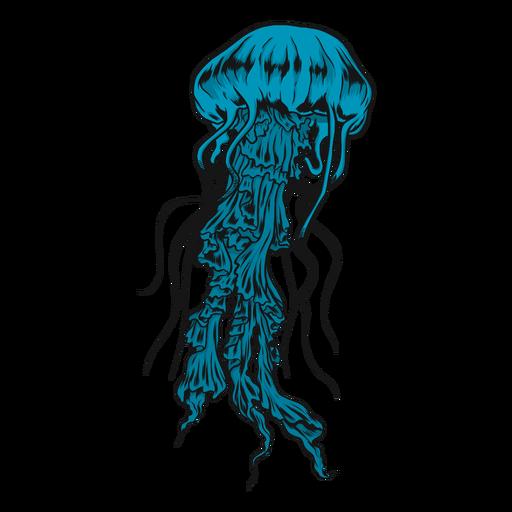 Ilustración de medusa medusa