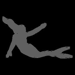 Silhueta de cauda de sereia ninfa sereia