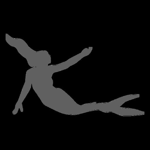 Sirena ninfa sirena cola silueta