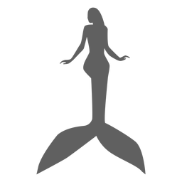 Mermaid nymph tail siren silhouette