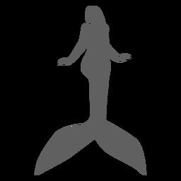 Mermaid nymph tail siren silhouette