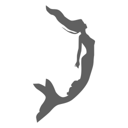 Mermaid siren nymph tail silhouette