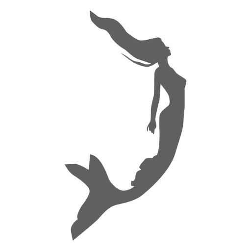 Mermaid siren nymph tail silhouette Transparent PNG