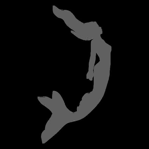 Sirena sirena ninfa cola silueta