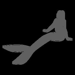 Mermaid tail nymph siren silhouette
