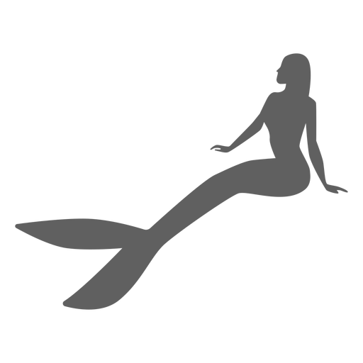Mermaid tail nymph siren silhouette Transparent PNG