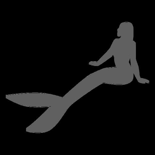 Sirena cola ninfa sirena silueta