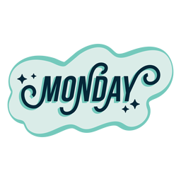 Monday badge sticker