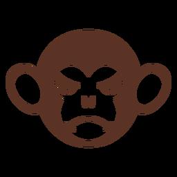 Mono enojado cabeza hocico plano