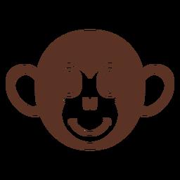 Cabeça de macaco alegre e focinho achatado