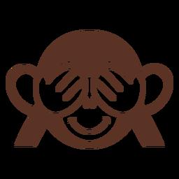 Cabeça lúdica de macaco focinho achatada