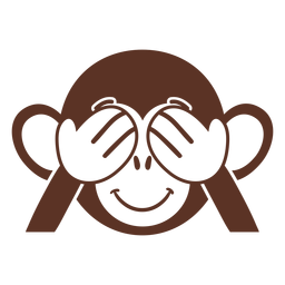 Mono juguetón cabeza hocico plano