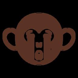 Cabeça de macaco triste focinho achatado