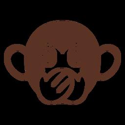 Focinho de cabeça silenciosa de macaco plana
