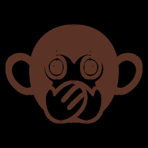 Focinho de cabeça silenciosa de macaco plana Transparent PNG
