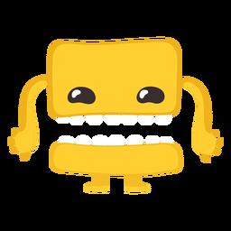 Mano de ojo de monstruo plano