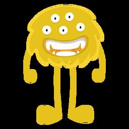 Monstruo peludo ojo plano
