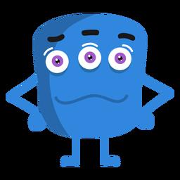 Monster Hand Bein Auge flach