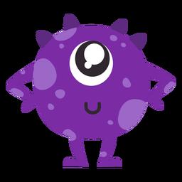 Monstruo espiga ojo plano