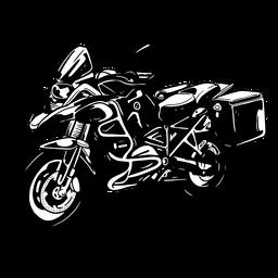 Silhueta detalhada da motocicleta