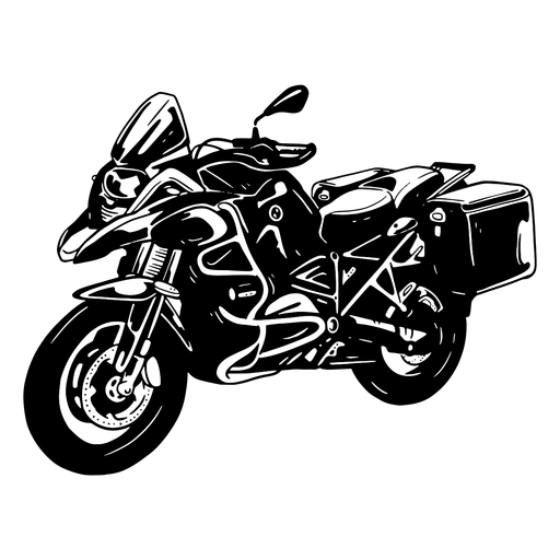 Motorcycle bike detailed silhouette Transparent PNG