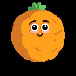 Orange mandarine tangerine flat
