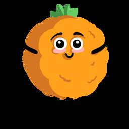 Orange Mandarine Mandarine flach